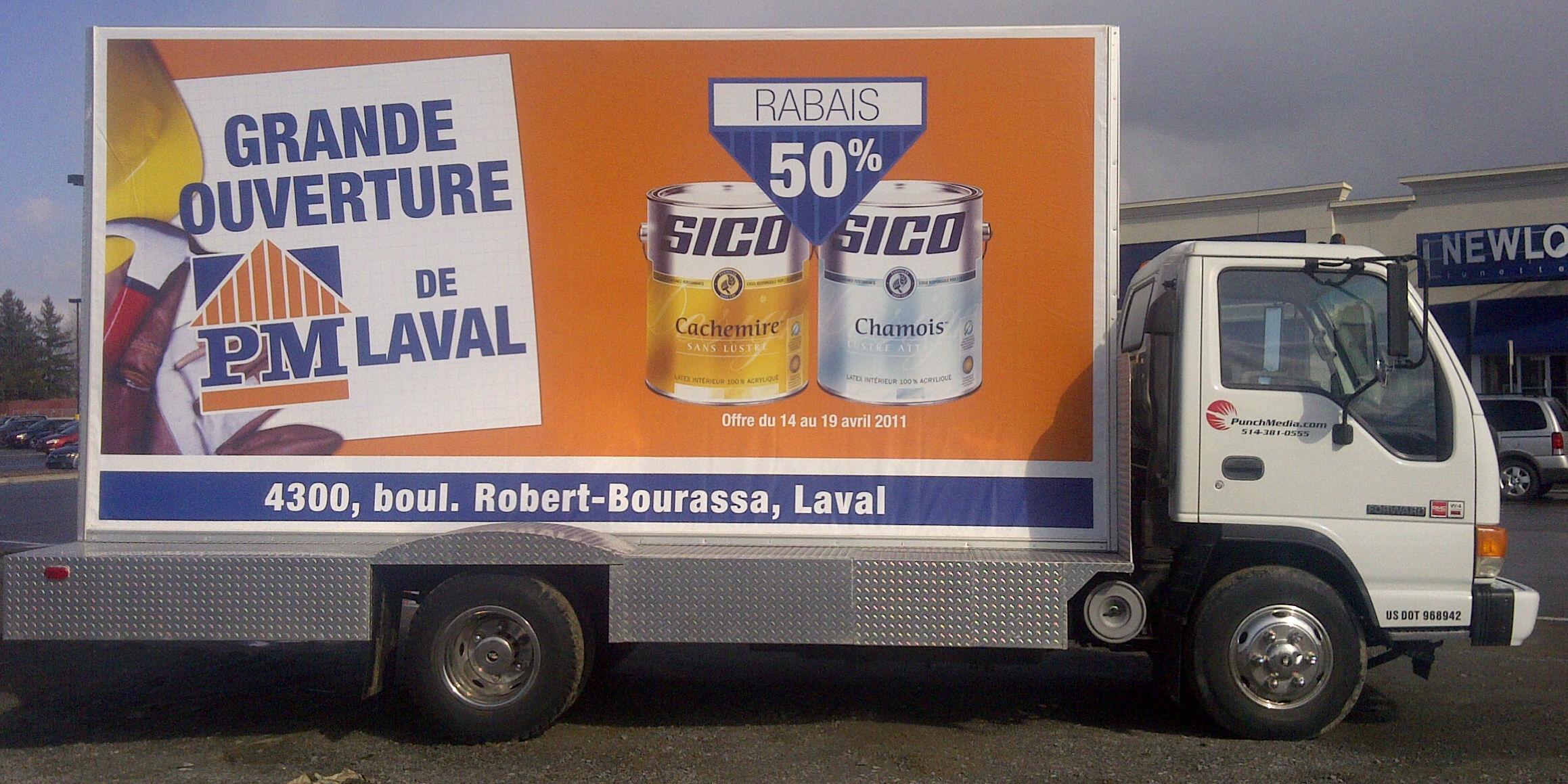 Camion publicitaire et v hicule promotionel punchmedia for Commerce exterieur belgique